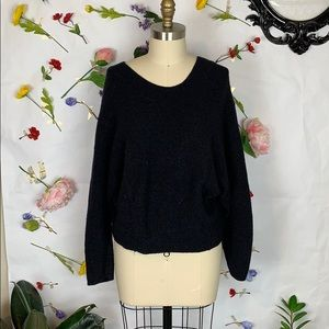 Vince dolman sleeve black sweater